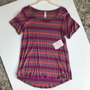 Pink and Purple Striped Tee